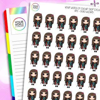 Wizard Iris Character Planner Stickers