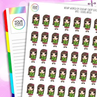 Irish Iris Character Planner Stickers