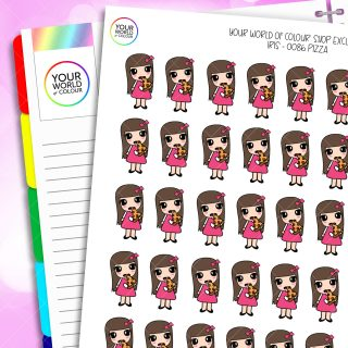 Pizza Character Planner Stickers
