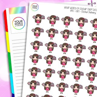 Sticker Delivery Iris Character Planner Stickers