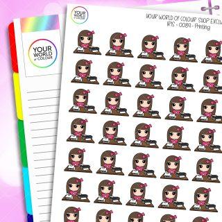 Printing Iris Character Planner Stickers