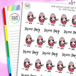 Snow Day Character Planner Stickers