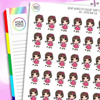 Hair Cut Iris Character Planner Stickers