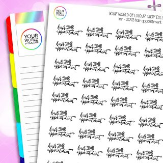 Hair Appointment Script Planner Stickers