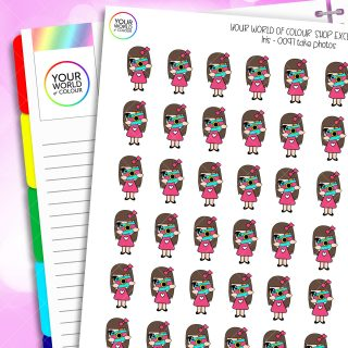 Take Photos Character Planner Stickers