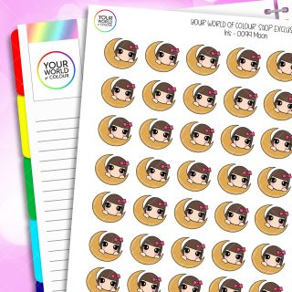 Moon Character Planner Stickers