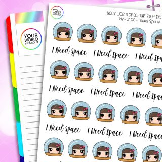 I Need Space Iris Character Planner Stickers