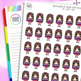 Subscription Box Iris Character Planner Stickers