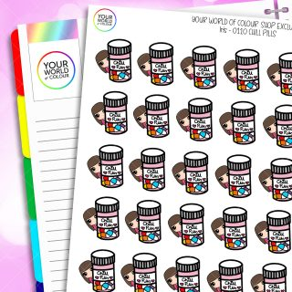 Chill Pill Character Planner Stickers
