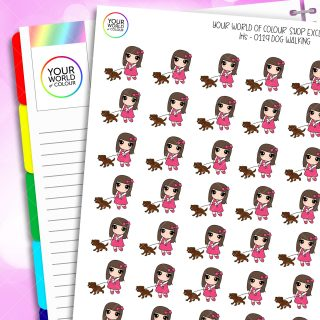 Dog Walking Character Planner Stickers