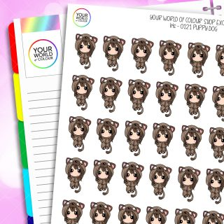 Puppy Dog Iris Character Planner Stickers