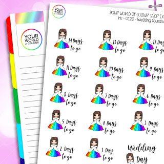 Wedding Countdown Iris Character Planner Stickers