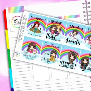 Full Box Quotes 2.0 Planner Stickers