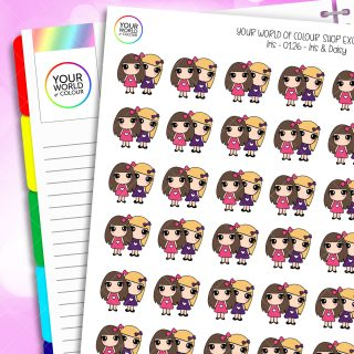 Iris & Daisy Character Planner Stickers