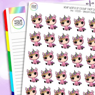 Unicorn Character Planner Stickers