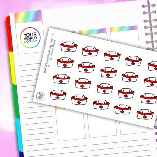Nurse Icon PLanner Stickers
