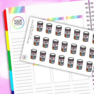 Chill Pill Planner Stickers