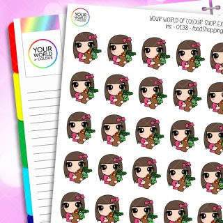 Food Shopping Iris Character Planner Stickers