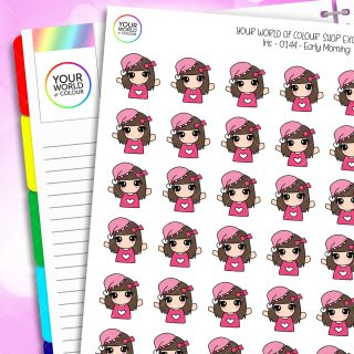 Rise and Shine Character Planner Stickers