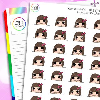 Bored Iris Character Planner Stickers