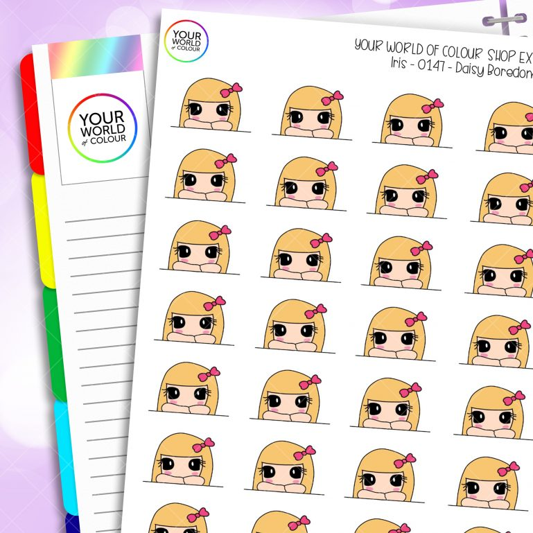 Bored Daisy Character Planner Stickers