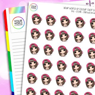 Chill Time Iris Character Planner Stickers
