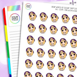 Chill Time Daisy Character Planner Stickers