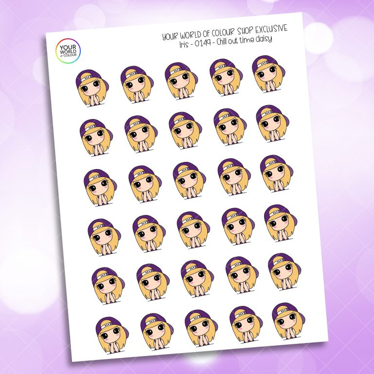 Chill Time Daisy Planner Stickers