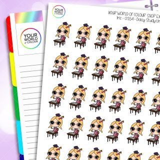 Study Daisy Character Planner Stickers