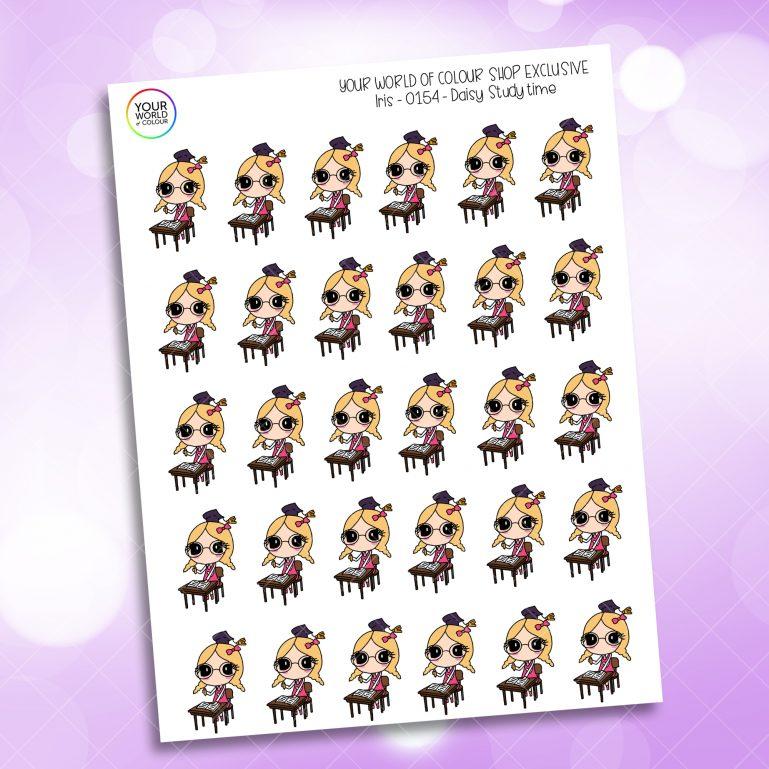 Study Daisy Planner Stickers