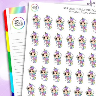 Dreamy Unicorn Planner Stickers