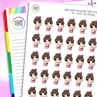 Shave Iris Character Planner Stickers