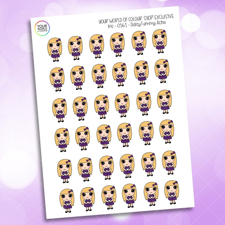 Tummy Ache Planner Stickers