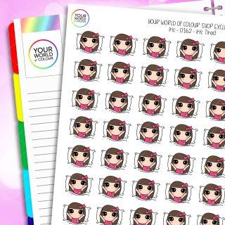 Sleep Character Planner Stickers