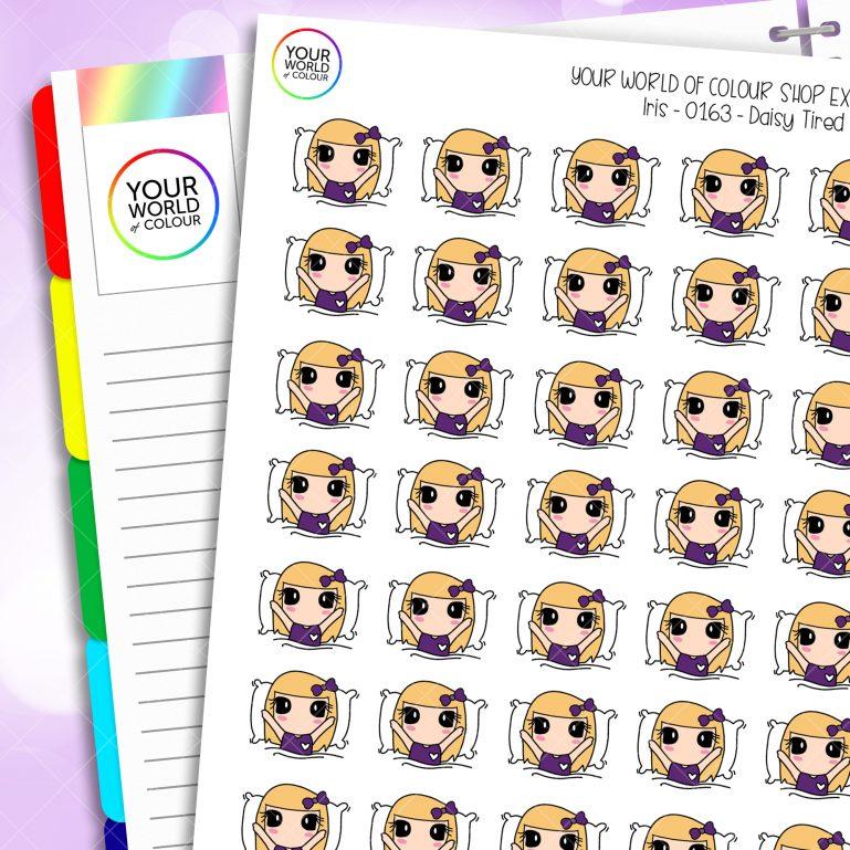Sleep Daisy Character Planner Stickers