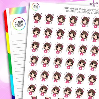 Listen To Music Iris Character Planner Stickers