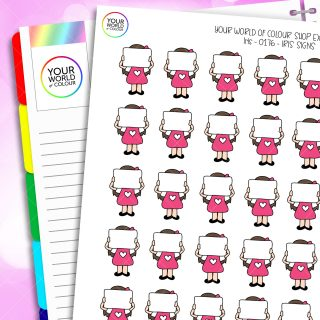 Sign Iris Character Planner Stickers