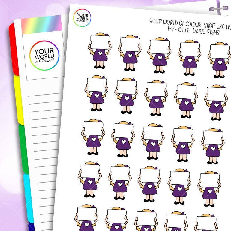 Sign Daisy Character Planner Stickers