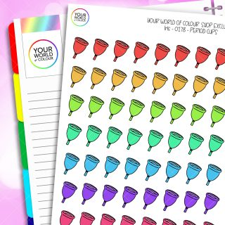 Menstrual Cup Planner Stickers