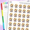 Laundry Folding Daisy Character Planner Stickers
