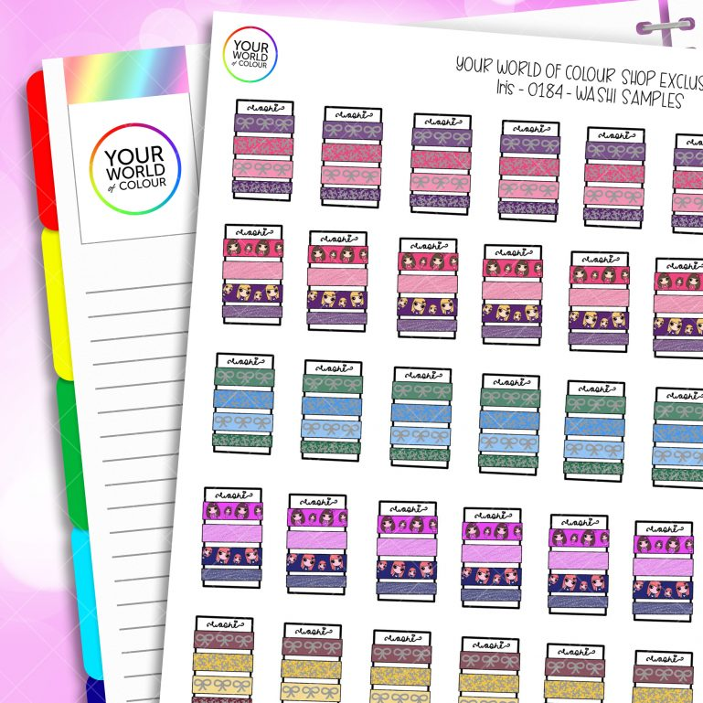 Washi Tape Swatch Planner Stickers