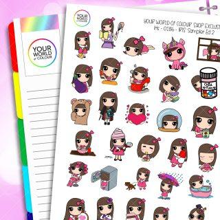 Sampler Iris 2.0 Character Planner Stickers
