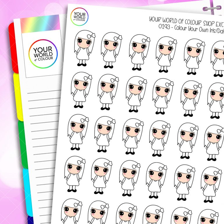 Colour your own planner stickers