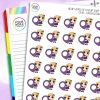 Geo Tag Daisy Character Planner Stickers