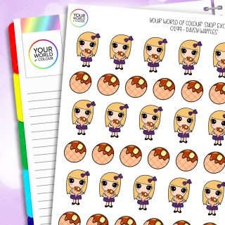 Waffles Daisy Character Planner Stickers