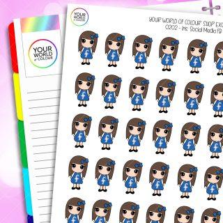 Social Media Iris Character Planner Stickers