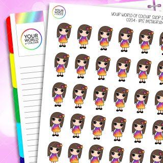 Instagram Iris Character Planner Stickers