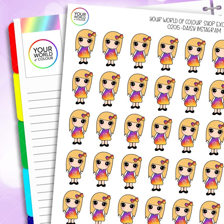 Instagram Daisy Character Planner Stickers