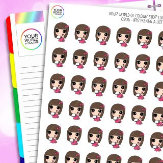 Make Notes Iris Character Planner Stickers