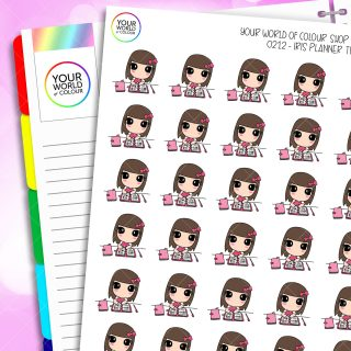 Planner Time Iris Character Planner Stickers
